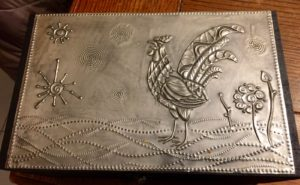 2015 02 04 Tangles on Pewter and a Rooster Stencil12