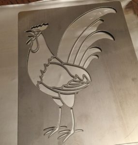 2015 02 04 Tangles on Pewter and a Rooster Stencil2