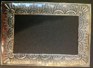 7 1 11 Stencil Pewter Frame